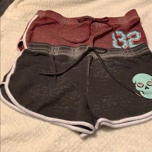 Lot of 2 plush shorts Lg